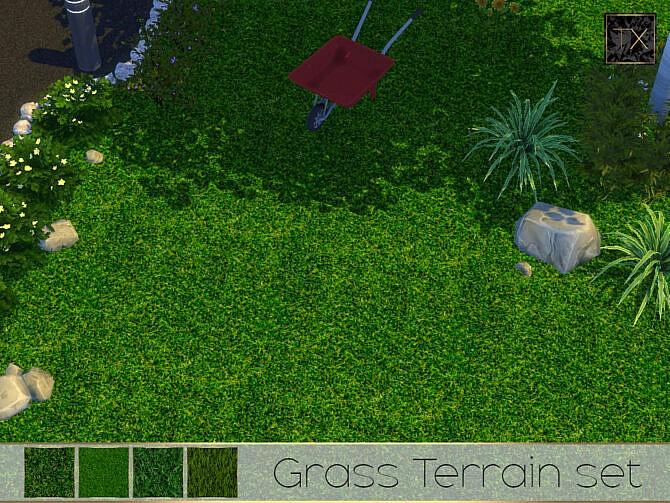 Sims 4 Grass Terrain Set by theeaax at TSR