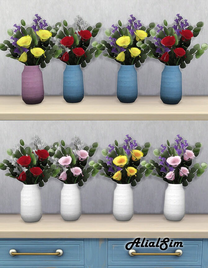 Sims 4 Flowers in vase at Alial Sim