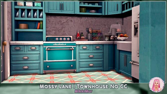 Sims 4 Mossy Lane Townhouse at MikkiMur