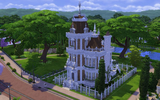Sims 4 Villa Ornate by alexiasi at TSR