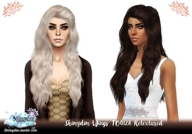 Sims 4 Wings TO0128 Hair Retexture at Shimydim Sims