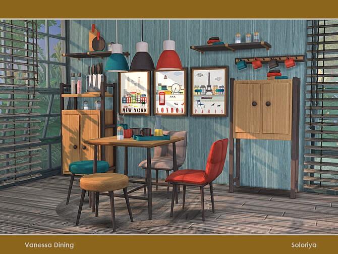 Sims 4 Vanessa Dining by soloriya at TSR