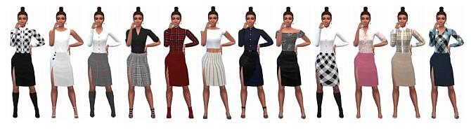 Sims 4 SENTATE'S SPLIT SKIRT at Sims4Sue