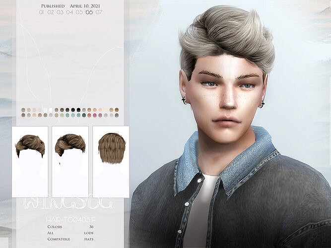 Wings-to0408 Hair For Males By Wingssims