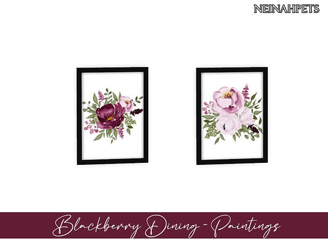 Sims 4 Blackberry Dining Room by neinahpets at TSR