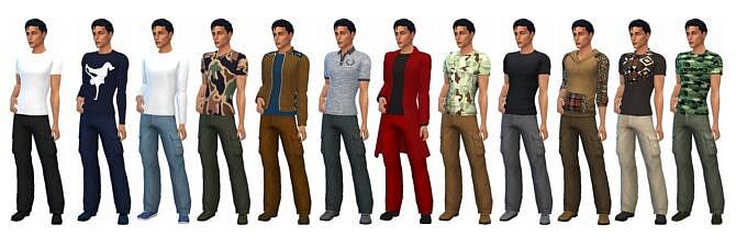 Sims 4 BG CARGO PANTS (M) at Sims4Sue