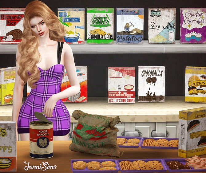 Sims 4 CLUTTER DECORATIVE (4 ITEMS) at Jenni Sims