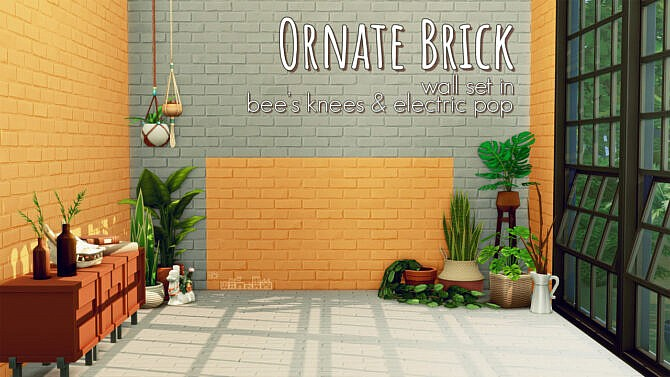 Ornate Brick Wall Set