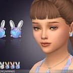 Bunny Gem Earrings For Kids