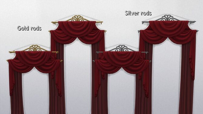 Sims 4 Velvet Seclusion Curtains from TS3 by TheJim07 at Mod The Sims 4