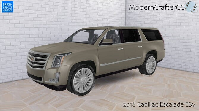 Sims 4 2018 Cadillac Escalade ESV at Modern Crafter CC