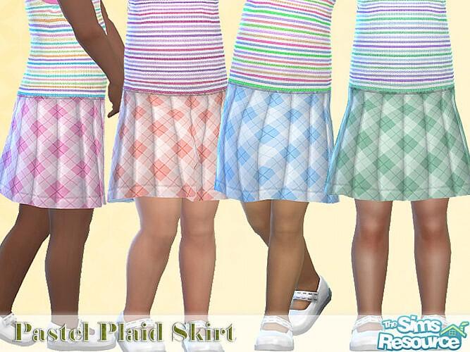 Pastel Plaid Skirt By Pelineldis