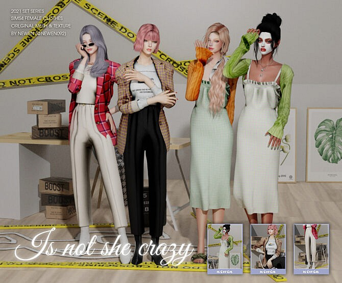 Sims 4 Set Series [Is not she crazy] clothes at NEWEN