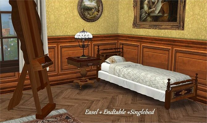 Sims 4 Conversion of Vitasims Victorian single room by Clara at All 4 Sims