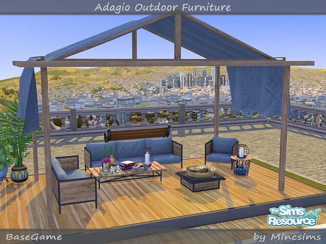 Adagio Outdoor Furniture Set By Mincsims