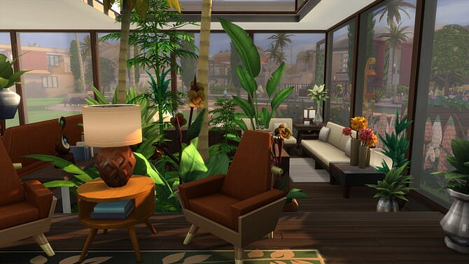 Sims 4 Atrium Living Luxury Modern by Brand at Mod The Sims 4