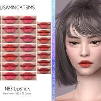 Lmcs N83 Lipstick (hq) By Lisaminicatsims