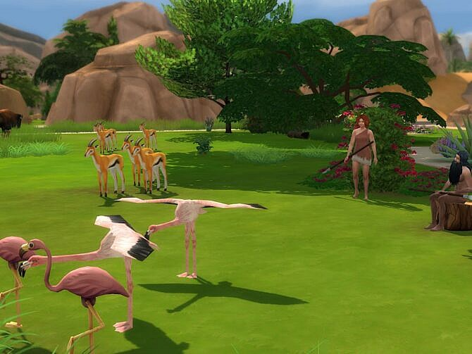 Sims 4 The Savannah and Little Pond at KyriaT's Sims 4 World