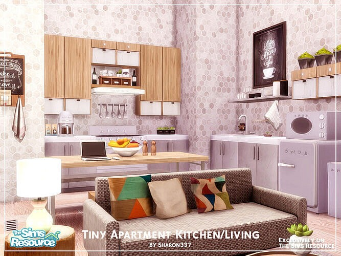 Tiny Apartment Kitchen/living Room By Sharon337