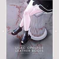 Lilac Opentoe Leather Boots Fm