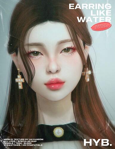 Earrings Like Water