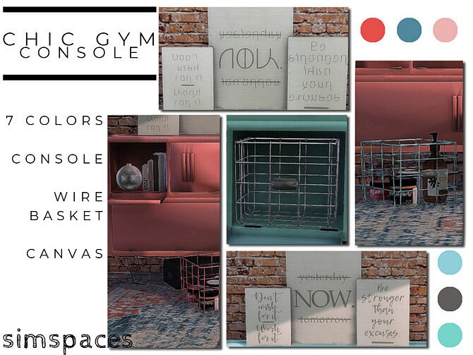 Sims 4 Chic Gym Console set by simspaces at TSR