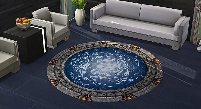 Sims 4 Large Stargate Rug at Geeky Gaming Stuff