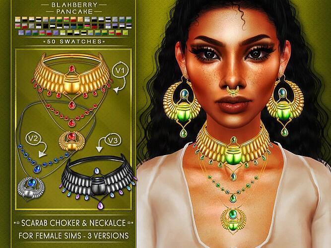 Scarab Jewelry Set
