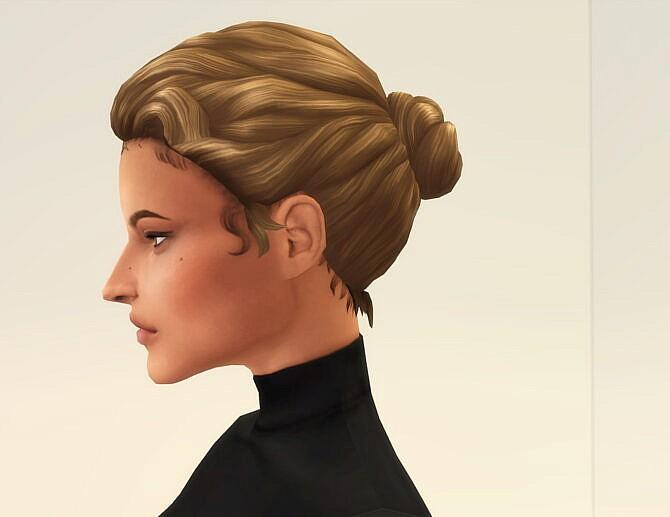 Sims 4 Runway Hair 1 Bun at Rusty Nail