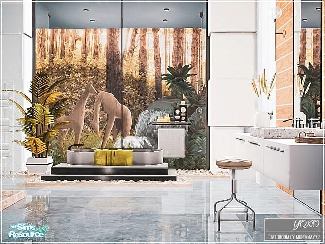 Sims 4 Yoko Bathroom by Moniamay72 at TSR