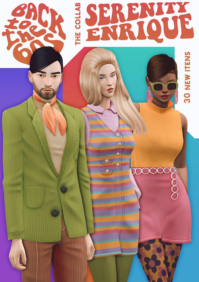 Sims 4 Back To The 60s   Enrique X Serenity