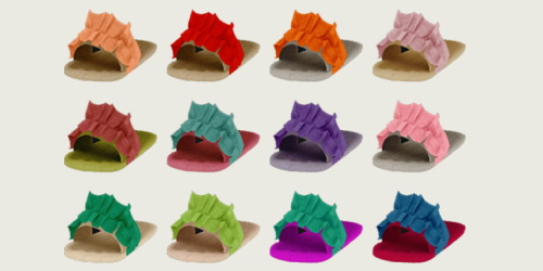 Sims 4 Elliesimple Ruffle Slides for kids & toddlers at Simiracle
