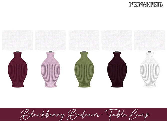 Sims 4 Blackberry Bedroom by neinahpets at TSR
