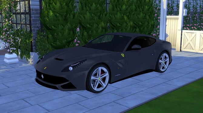 Sims 4 2013 Ferrari F12 berlinetta at Modern Crafter CC