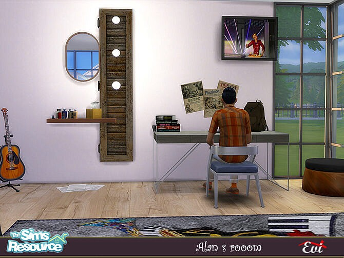 Sims 4 Alans Room by evi at TSR