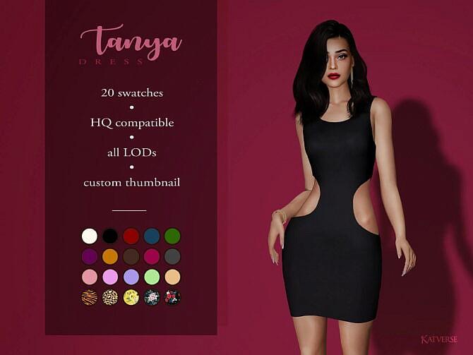Sims 4 Tanya Dress at Katverse