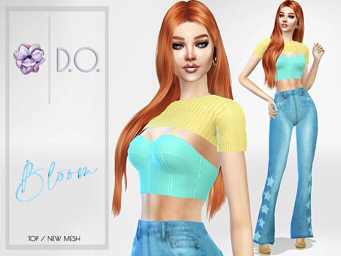 Sims 4 Bloom Top 75 by D.O.Lilac at TSR