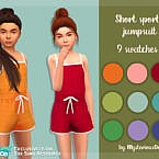 Short Sports Jumpsuit By Mysteriousoo