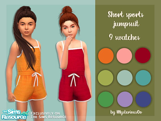 Sims 4 Short sports jumpsuit by MysteriousOo at TSR
