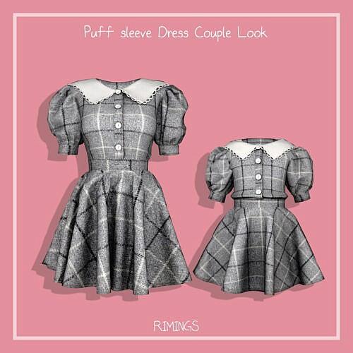 Puff Sleeve Dress Mother & Daughter