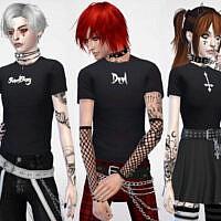 Guys Sadboy, Devil And Upside Down Cross T-shirts By Maruchanbe