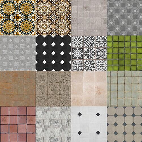 Realistic Floor Tiles