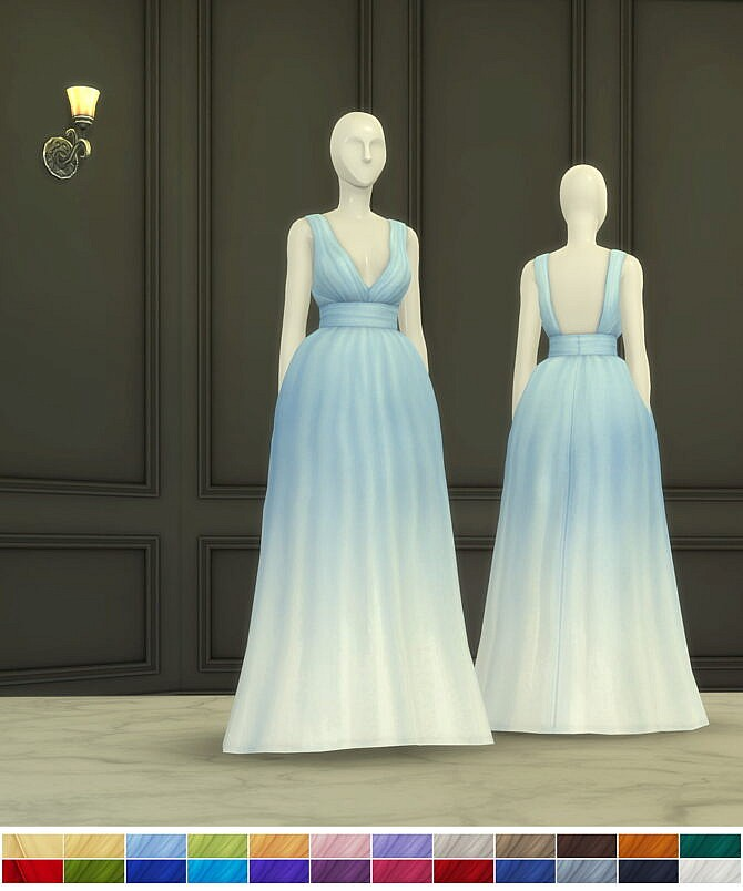 Sims 4 Bloom Gown 2 at Rusty Nail