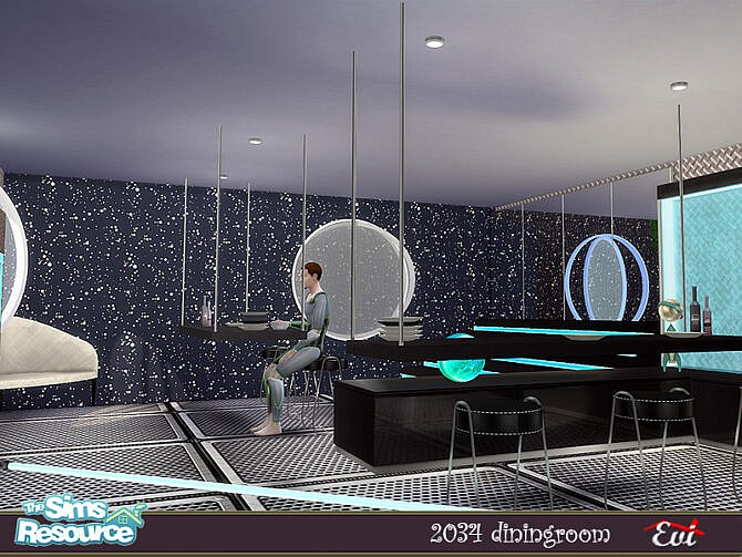 Sims 4 2034 Dining room by evi at TSR