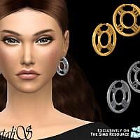 Roman Numeral Hoop Earrings By Natalis