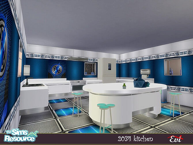 Sims 4 2034 Kitchen by evi at TSR