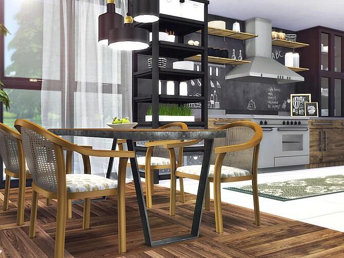 Sims 4 Rune Kitchen by Rirann at TSR