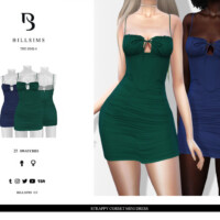 Strappy Corset Mini Dress By Bill Sims