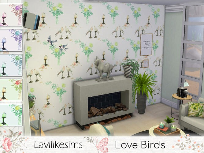 Love Birds Wallpaper By Lavilikesims