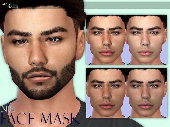 Sims 4 Face Mask N04 by MagicHand at TSR